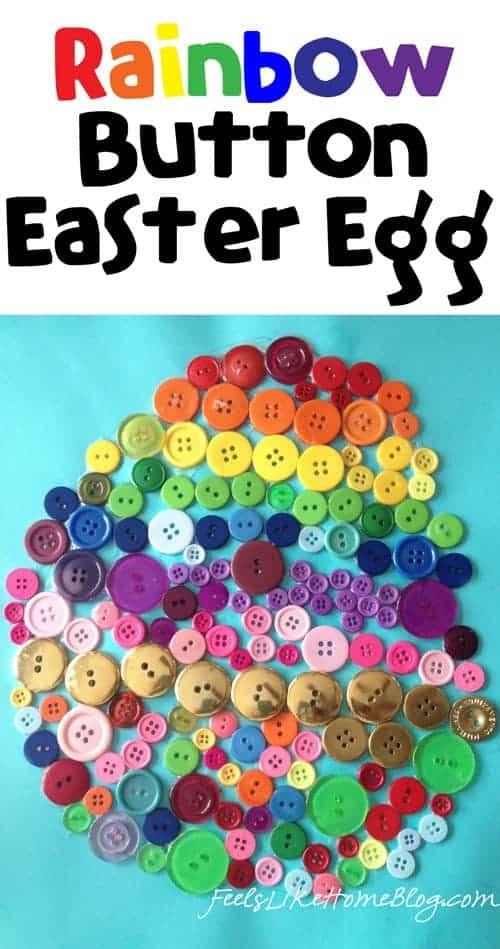 Rainbow Button Craft An Easter Egg Craft