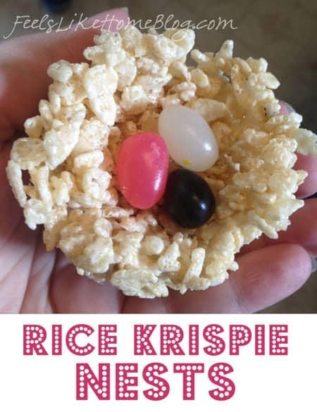 How to Make Rice Krispie Treats Bird Nests for Easter