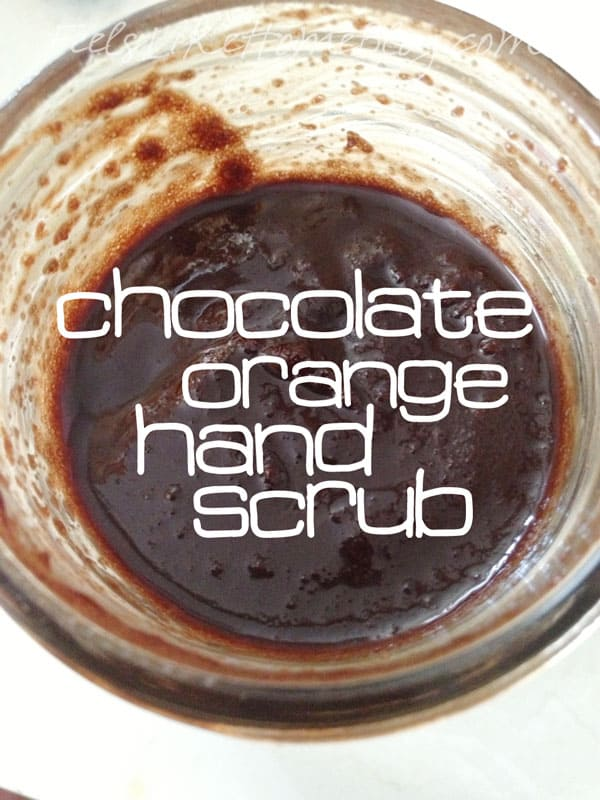 Chocolate Orange Hand Scrub Recipe
