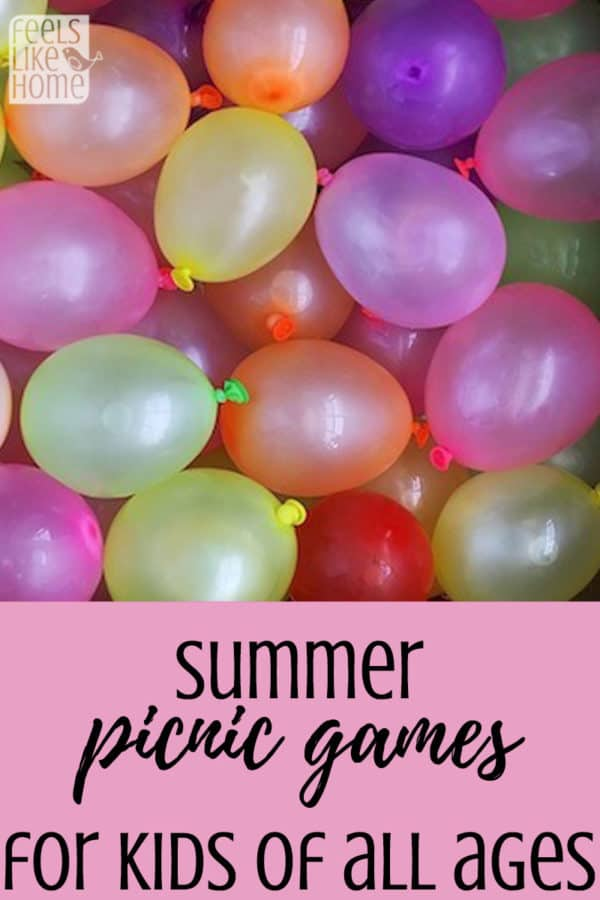 Fun summer picnic games for groups of kids of all ages - These awesome and fun games are great for families and even adults. Lots of water play and old fashioned, classic games. Best for outdoors and at church or family picnics.