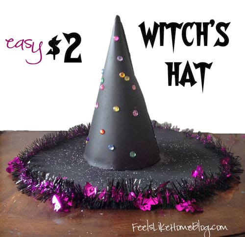 How to Make an Easy $2 Witch's Hat