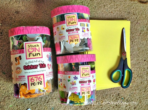 preschool sticker matching activity