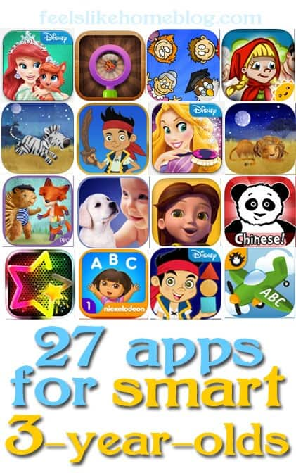 27 Apps for Smart 3-year-olds - Some are educational. Some are just for fun.