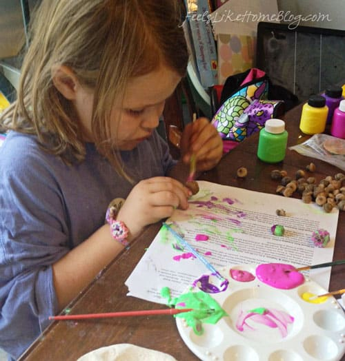 big-kids-painting-acorn-craft-brush