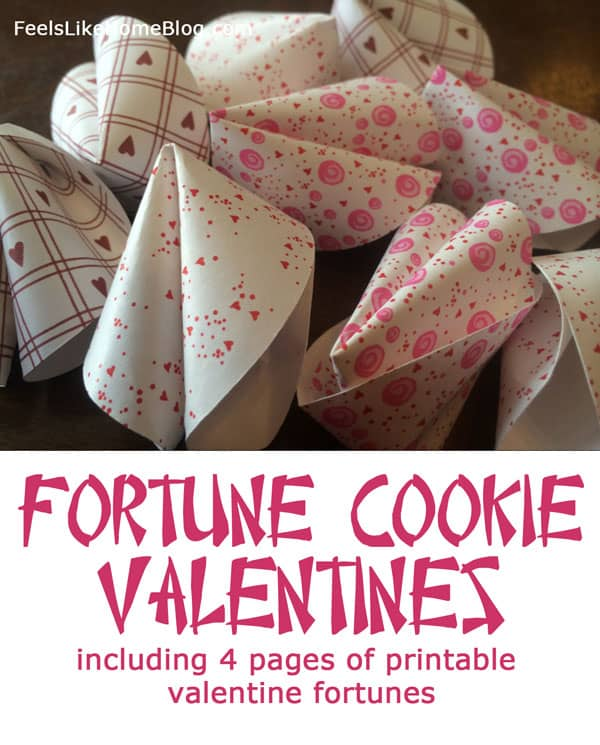 image relating to Printable Fortune Cookie Sayings named Fortune Cookie Valentines - Totally free Printable Valentine