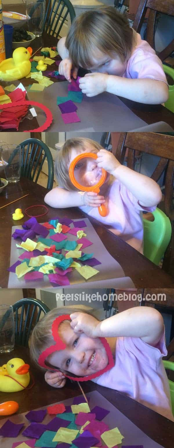 How my 3-year-old crafts