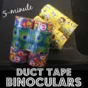 Easy 5-minute Duct Tape Binoculars Made from Toilet Paper Rolls