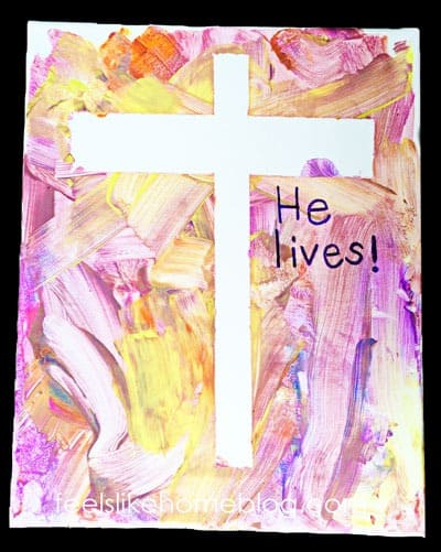 Finished cross resist painting - He lives!