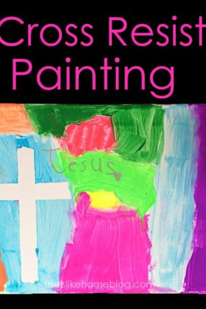 How to do Cross Resist Paintings for Easter or any time of year