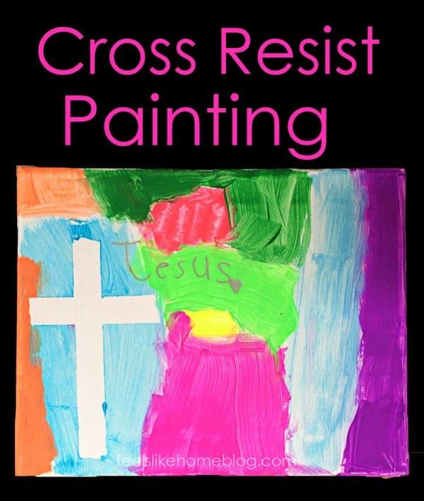 Cross Resist Paintings For Preschoolers And Big Kids