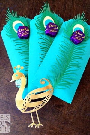Unique Way to Give Chocolate Gift - Dove Dark Chocolate Peacock