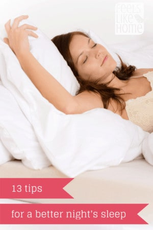 13 Tips for a Better Night's Sleep - These are great ideas featuring essential oils! So easy!