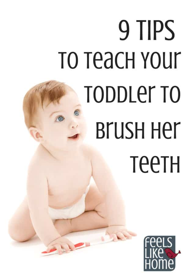 how to teach your toddler to brush her teeth - Toothbrushing can be difficult with a toddler or young child. Here are my best tips and ideas for teaching good oral hygiene to children and a baby. Includes training toothpaste products.