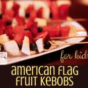 American flag fruit kebobs for kids