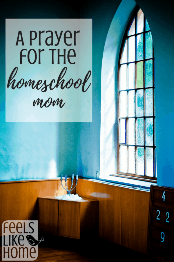 Prayers for homeschooling moms - This is a great prayer that we can all pray over our kids, husband, and homeschool!