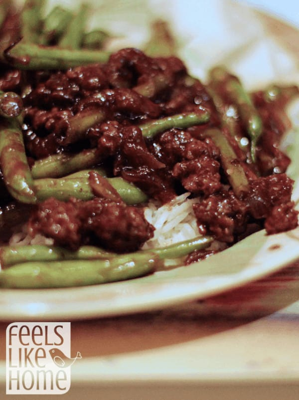 How to make healthy beef and green beans stir fry - Gluten free recipe that is so simple, quick, and easy it makes a perfect weeknight meal. Low carb dinner that's great comfort food. Perfect with brown rice.