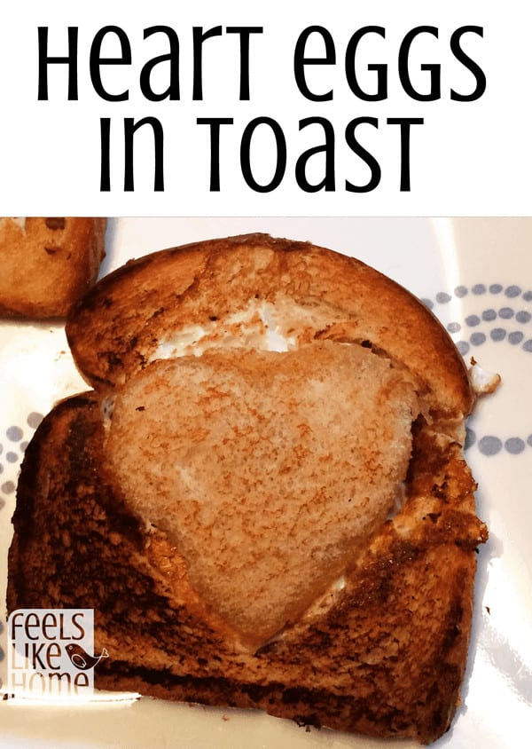 A frog in a hole or egg in toast