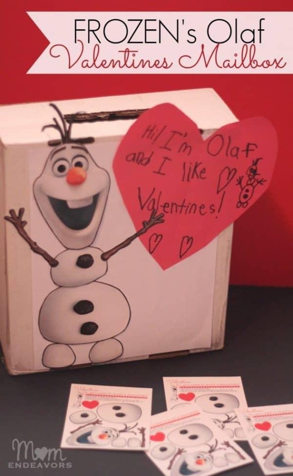 Disney's Frozen Olaf DIY Valentine Mailbox