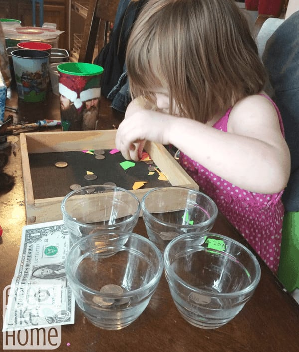 teaching preschoolers how to count money
