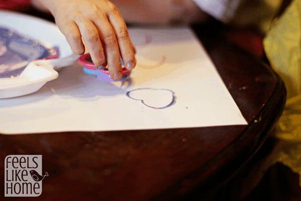 Using creative painting materials