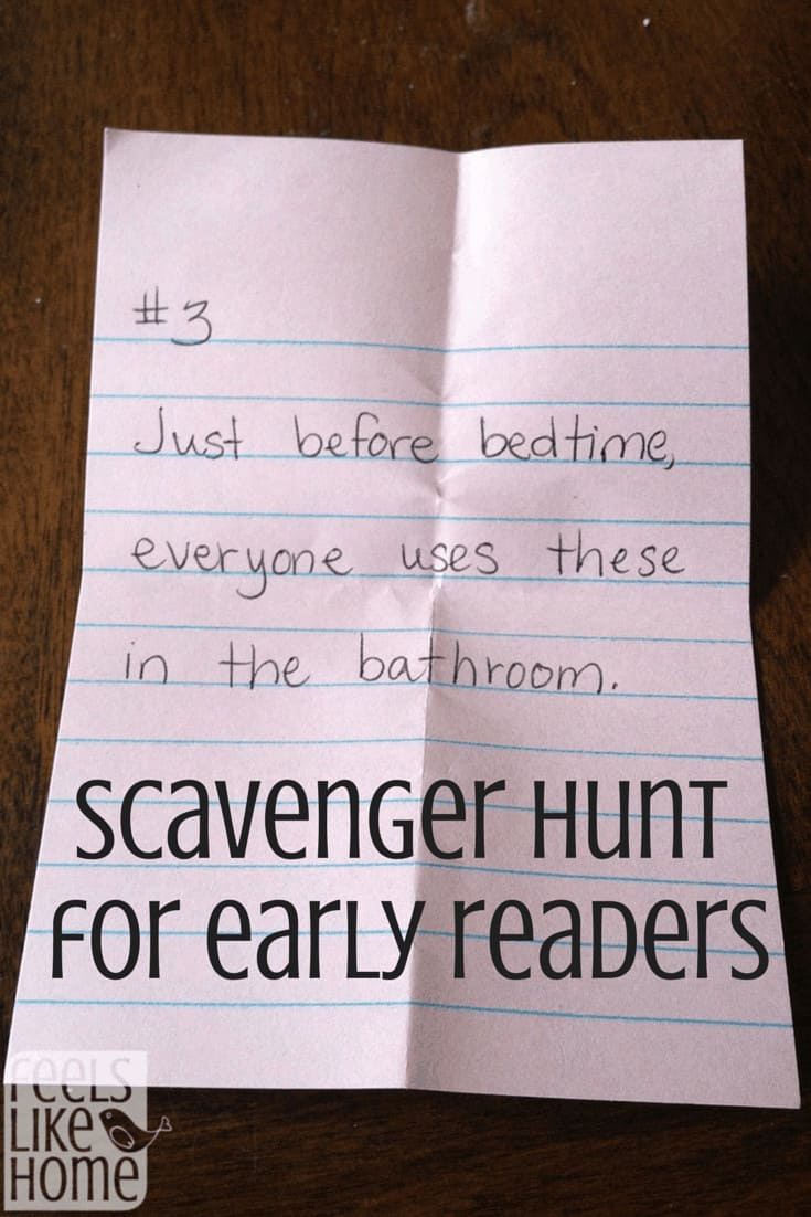 Scavenger Hunt for Early Readers
