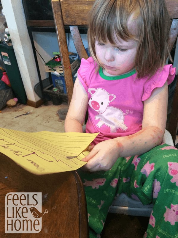 Writing letters with preschoolers