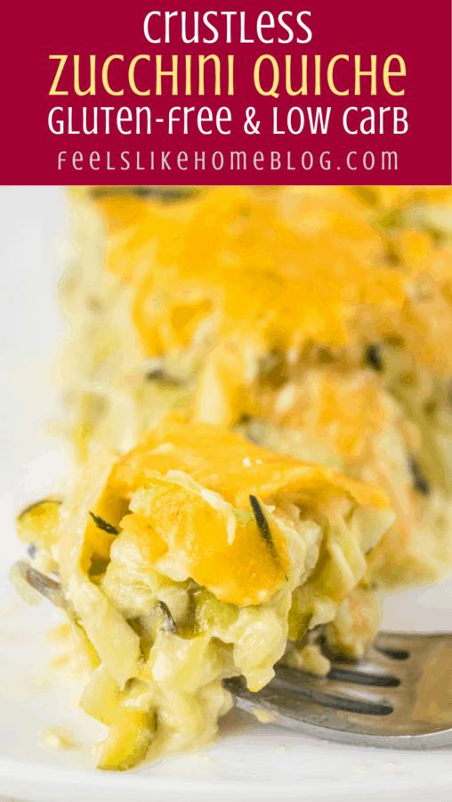 A close up of zucchini quiche