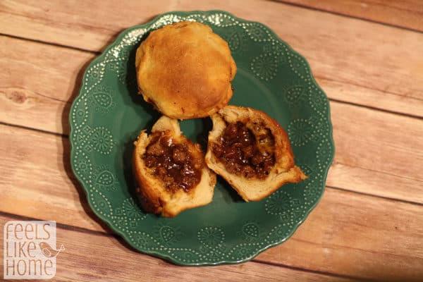 BBQ beef stuffed biscuits recipe