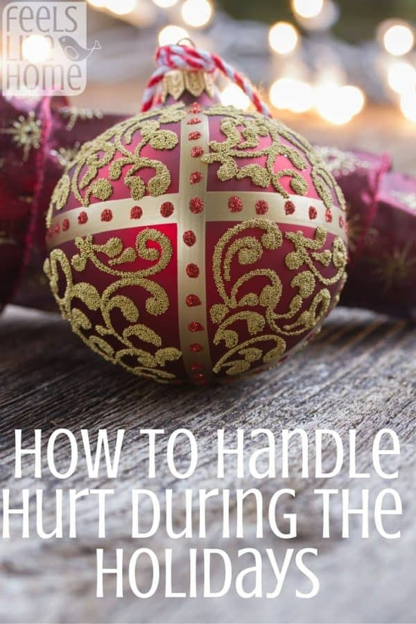 The holiday season is a tricky time for people who have sick relatives or who have lost loved ones. This encouraging post will help you look at the weeks ahead with hope and peace. 9 Ways to handle hurt during the Christmas season when your heart is grieving - Grief during the holidays can be devastating, especially when your mom or dad has passed away.