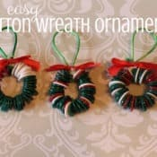 Button Wreath Craft for Preschoolers