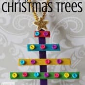 Popsicle Stick Christmas Trees