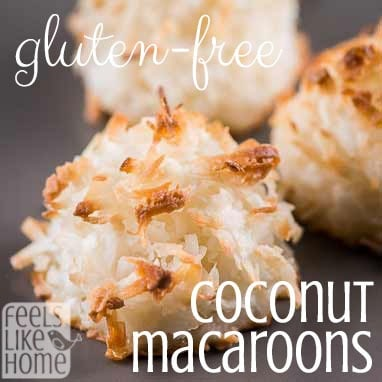 These coconut macaroons are easy to make and gluten-free! They're so good!