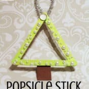 Popsicle Stick Christmas Tree Triangles