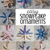 Easy Popsicle Stick Snowflake Ornaments for Preschoolers