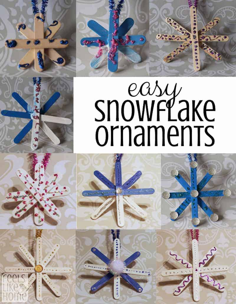snowflake craft preschool easy popsicle stick snowflake ornaments for preschoolers 293