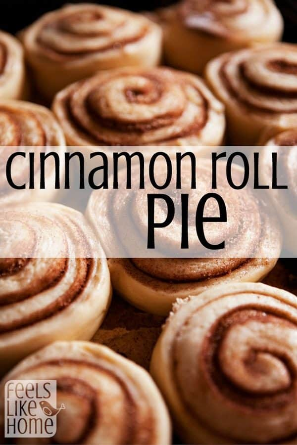 Cinnamon Roll PIE?! This is so amazing! If you like the gooey goodness of cinnamon rolls, you are going to LOVE this pie which is made from two layers of cinnamon rolls with a sweet nutty brown sugar filling in between. Tasty and simple and easy to prepare with Grands! prepared rolls. Great for families and holidays!