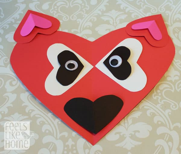 Valentine's Day heart-shaped animal crafts for kids fox