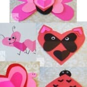 Valentine's Day Heart Animal Crafts for Kids