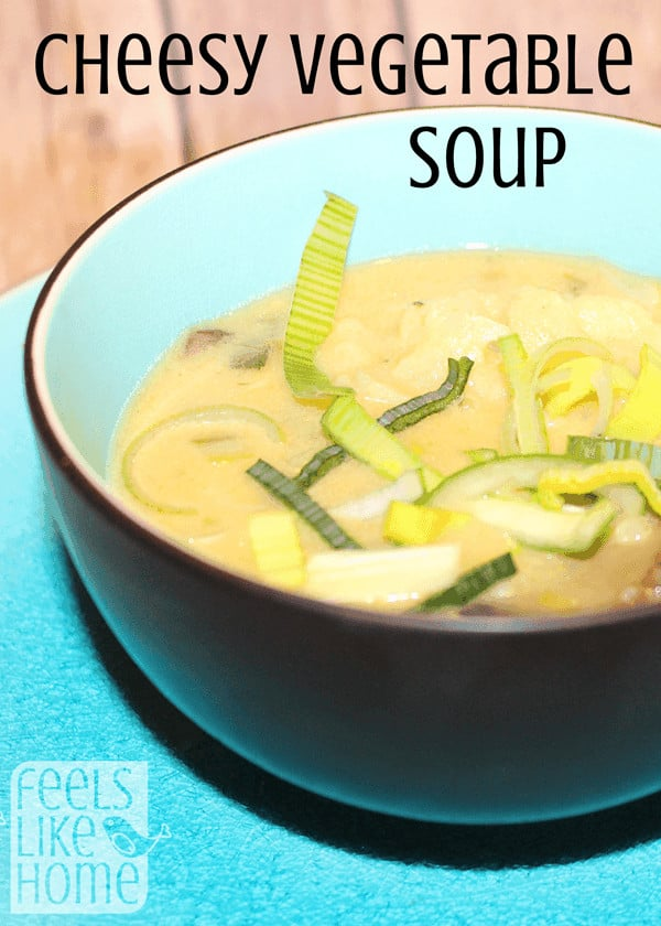 How to make the best gluten-free cheddar cheese soup - Really delicious! It's loaded with fresh veggies and lots of cheese. Super quick and easy, this is the best comfort food for families in fall and winter. Low carb.