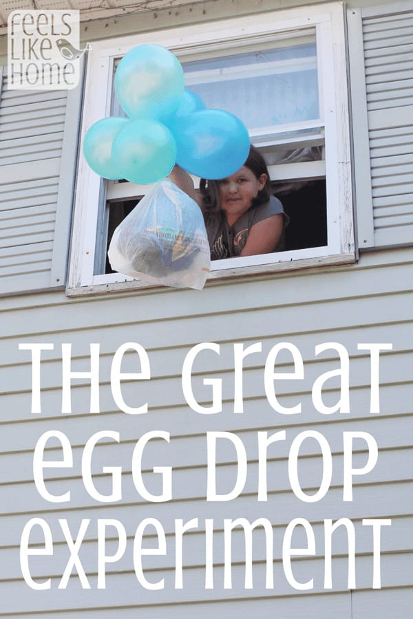 Kids love an egg drop! Here are instructions for how to do it with your kids!