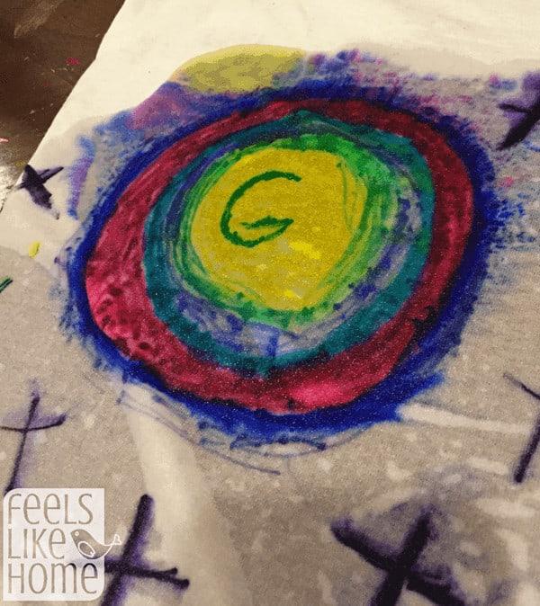 t-shirt-chromatography-circle-growing