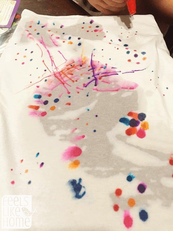 t-shirt-chromatography-starting-to-run