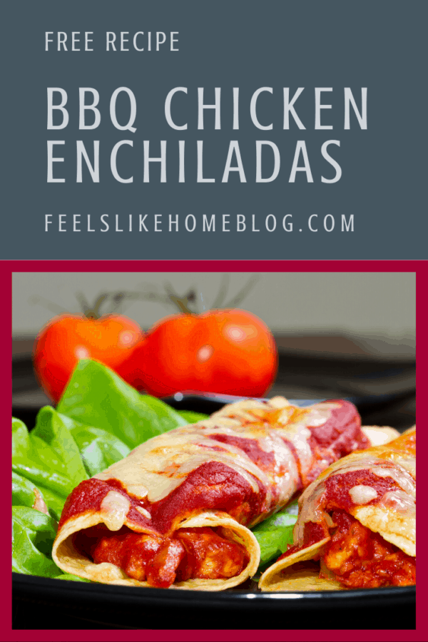 A close up of Enchiladas with BBQ Chicken