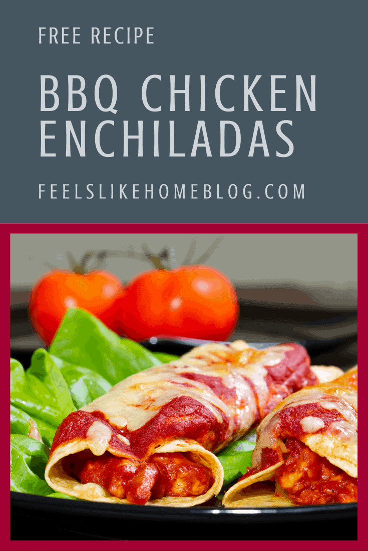 The Best BBQ Chicken Enchiladas