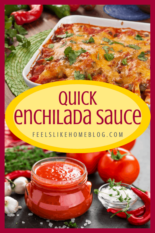 The best simple and easy, homemade red enchilada sauce recipe. This authentic Tex Mex Mexican recipe is healthy and hearty and quick to make with only a few ingredients. Great low carb recipe to make from scratch and top chicken or beef or even shrimp and fish. How to make the best home made traditional enchilada sauce with flour.