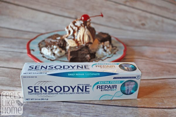 This simple and easy hot fudge brownie sundae recipe is gluten-free! It is made with the best homemade fudgy brownies, hot fudge, and vanilla ice cream!