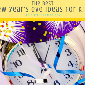Fun New Year's Eve foods, crafts, and activities for kids - I love spending New Years Eve as a family, and these are our best tips for having a successful party for everyone whether you're celebrating at home or with a group! Great DIY countdown ideas for a fun night including dinner, snacks, and dessert. Start new traditions this year! You'll never run out of things to do on New Years Eve again!