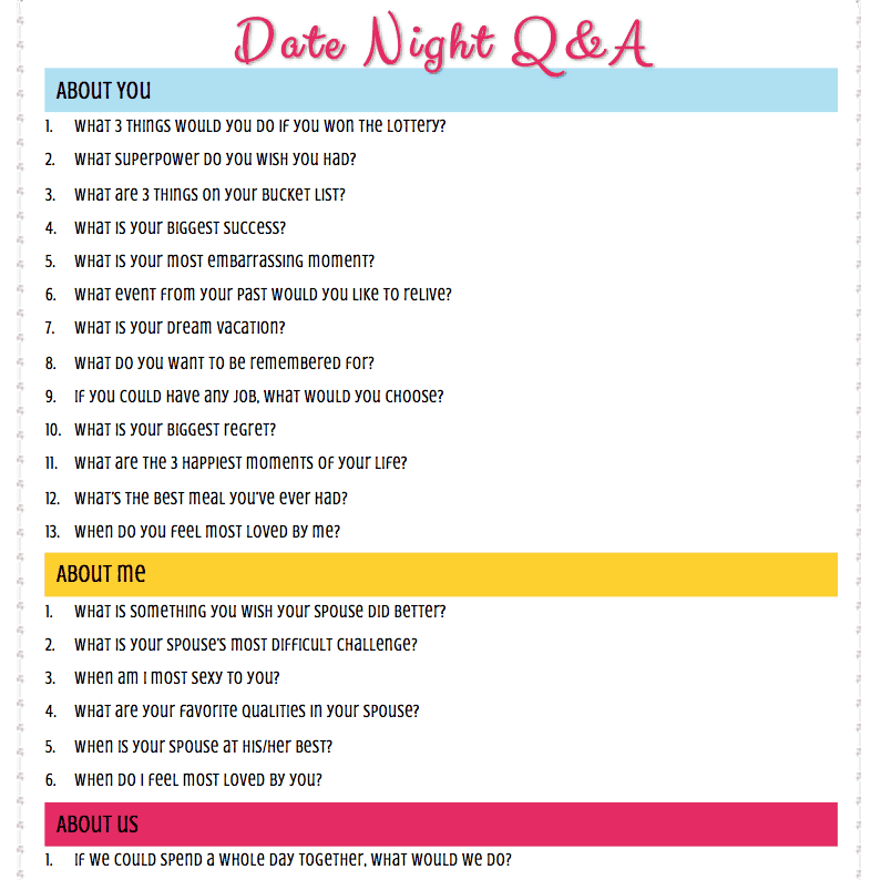 speed dating questions to ask him