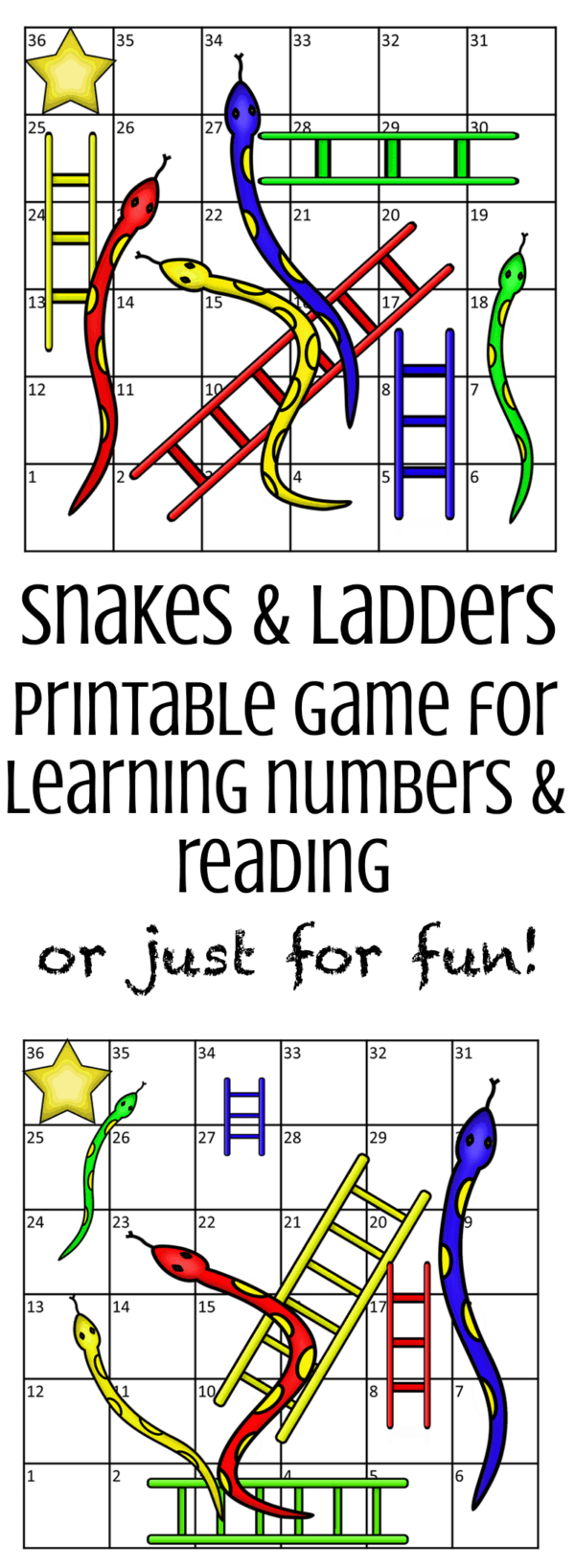 picture regarding Free Printable Games for Kids identify Snakes and Ladders - A Absolutely free Printable Finding out Match for Youngsters