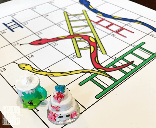 snakes and ladders - a free printable learning game for kids